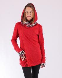 Gilet Maduraï Hoodie Rouge