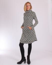 Robe hiver manches longues et col roulé Marocco vert