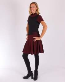 Robe Betty retro bordeaux