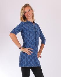 Pull tunique imprimé cosmos Bleu