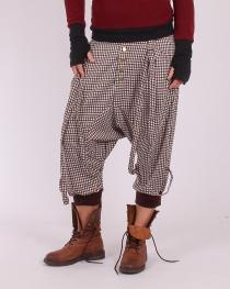 Sarouel court City straps tartan