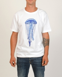 T.S Jelly fish Blanc