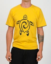 T-shirt Tortue Jaune et Brun