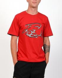 T-shirt Shark Attack Rouge