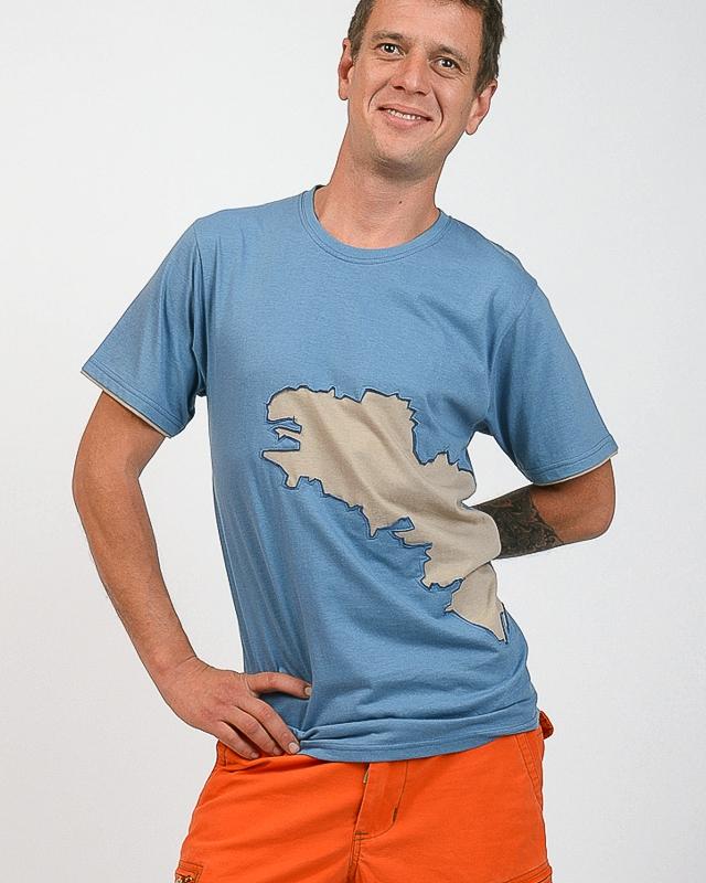 T-shirt Bretagne bleu