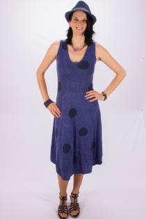 """Robe """"Papaya"""" longue Mandala Circle Bleu"""