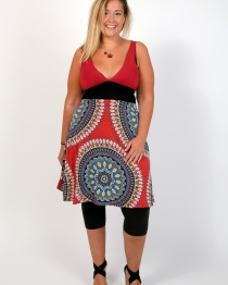 "Robe ""Nouna"" Big Mandala Rose"