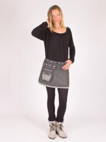 Jupe réversible Smart Wool Seigaiha courte