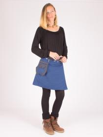 Jupe réversible Smart Wool Eclectic Blue mi-longue