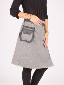 Jupe réversible Smart Wool Seigaiha longue