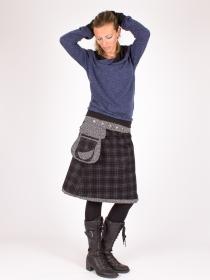 Jupe réversible Campbell Scotland Black longue