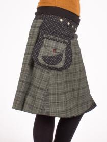 Jupe réversible Campbell Scotland Kaki2 longue