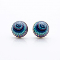Puce d'oreille Infra Spirale bleu