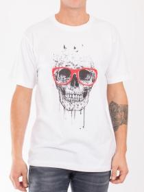 T.S Skull glasses Blanc