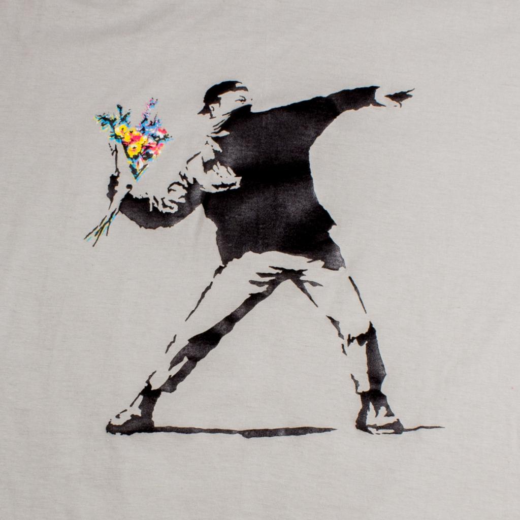 """T.S Hooligan """"Banksy"""" Gris"""