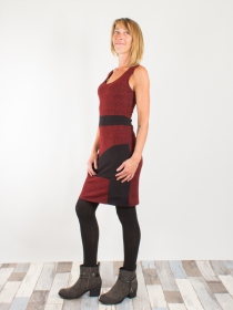 Robe Betty style Square spirale Rouge