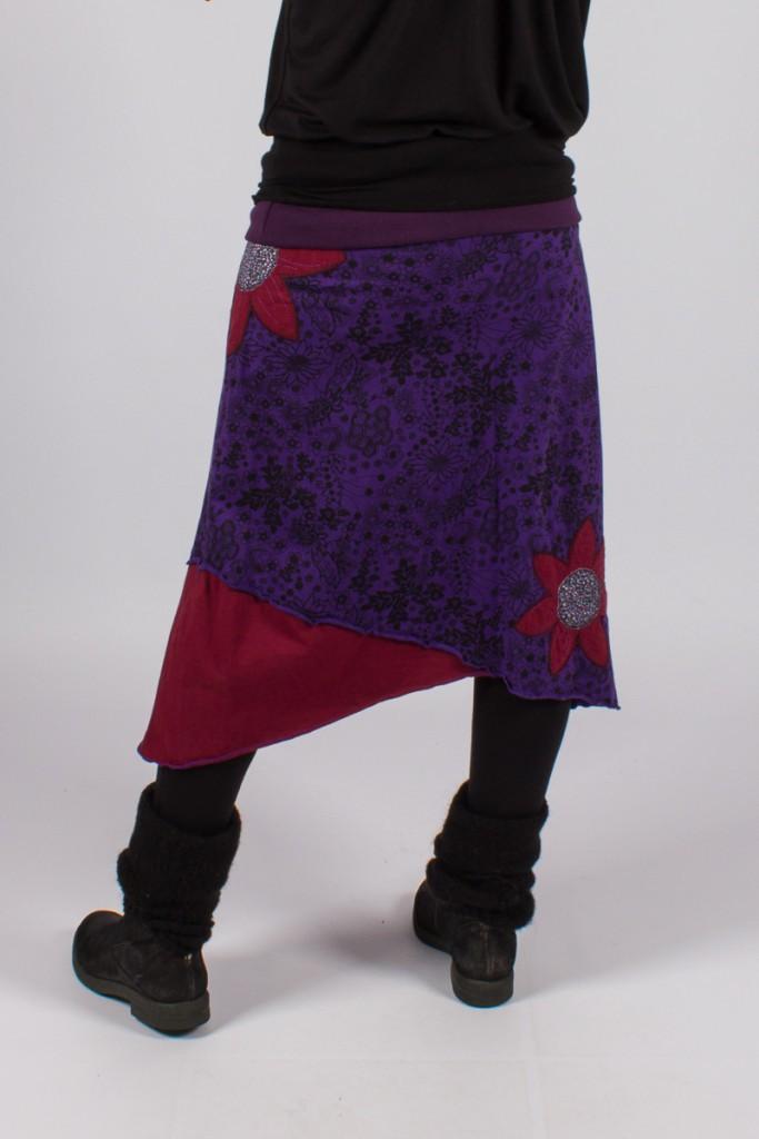 """Jupe \""""hippie chic\"""" Violette"""