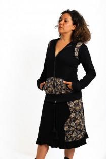 Jupe noire mi-longue collection \