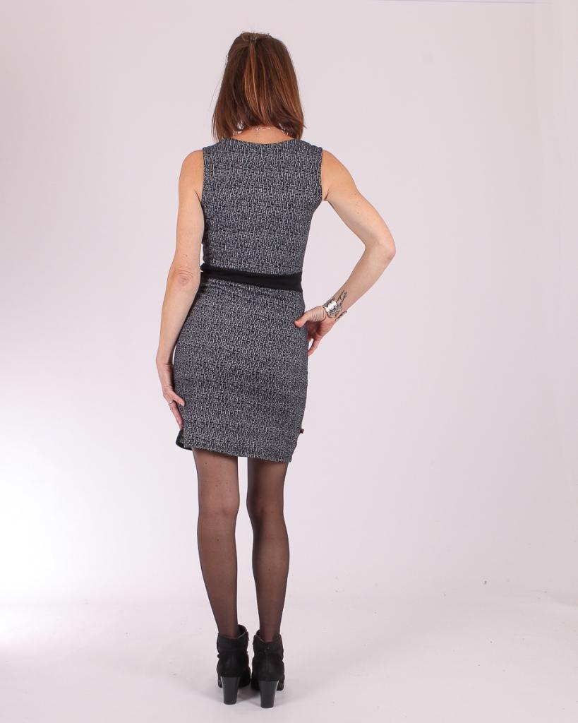 Robe betty style Square spirale Noir