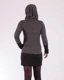 Robe Cocoon stripes gris