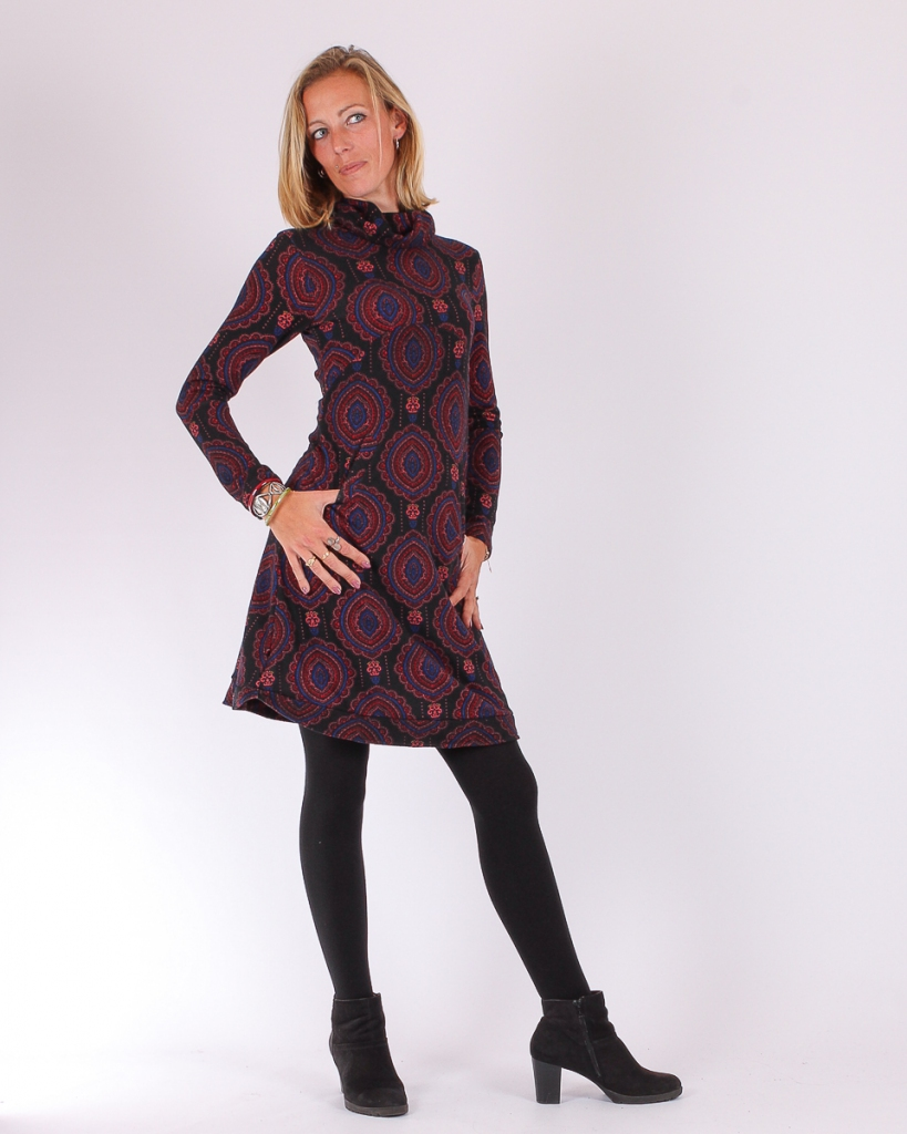 Robe Hiver Manches Longues Et Col Roule Mouchara