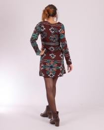 Robe Sarah vert Brun