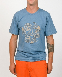 Tee shirt Triskel Bleu