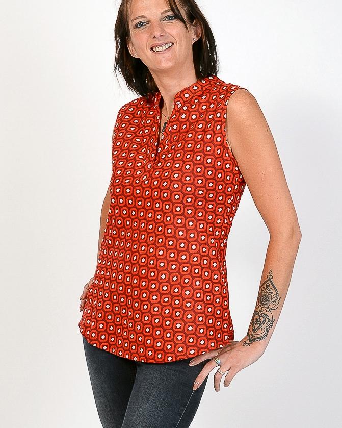 Top Aruba Diamonds Fabrics Rouge