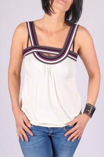 Top Lila Blanc
