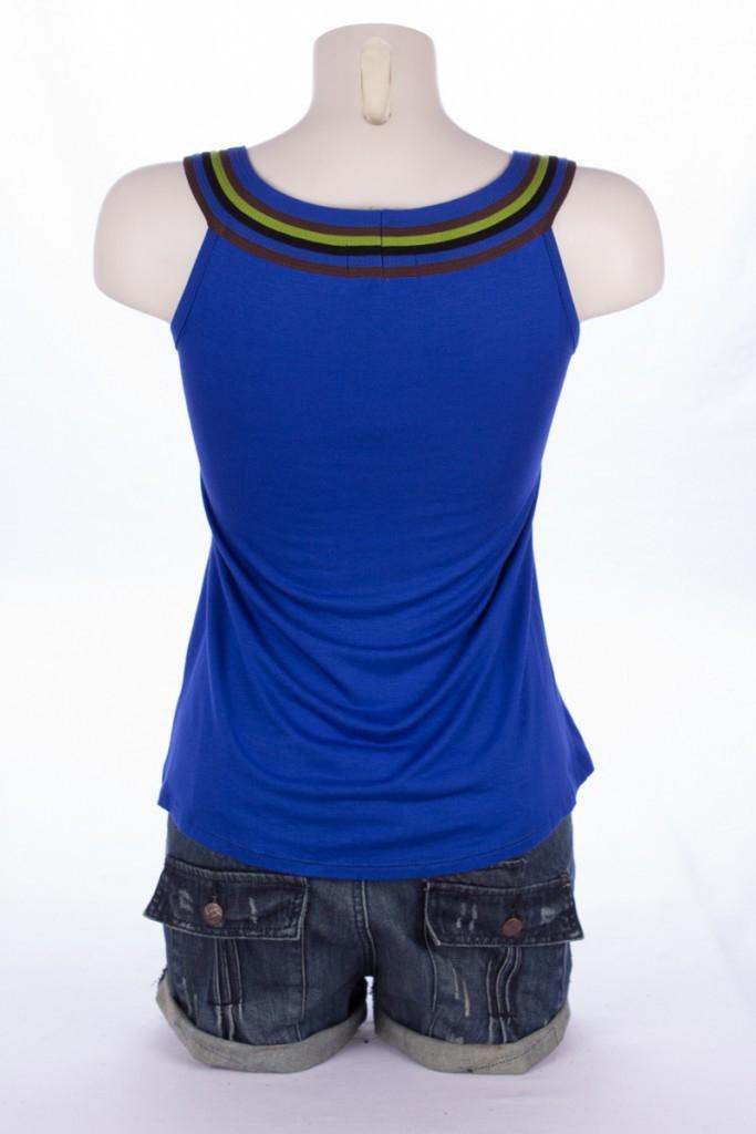 Top Liloo uni Bleu Electrik