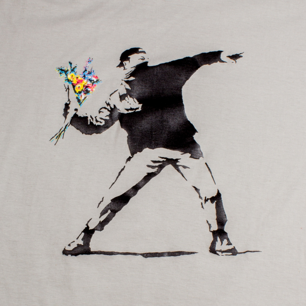 Tee shirt Hooligan Banksy Gris