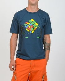 Tee shirt Rubik's Cube Bleu Pétrol