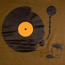 Tee shirt Sillons Vinyl Kaki