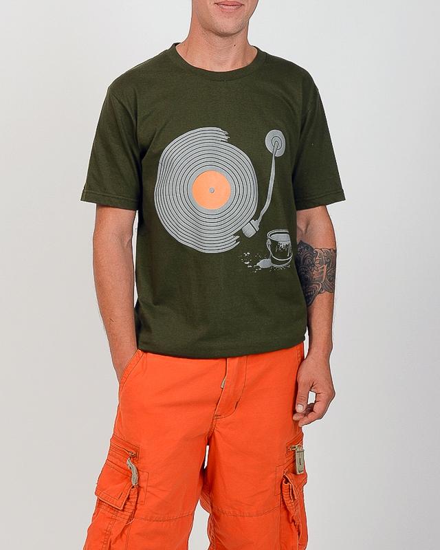 Tee shirt Sillons vinyl vert