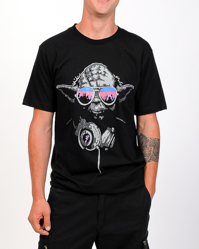 Tee shirt Yoda Noir