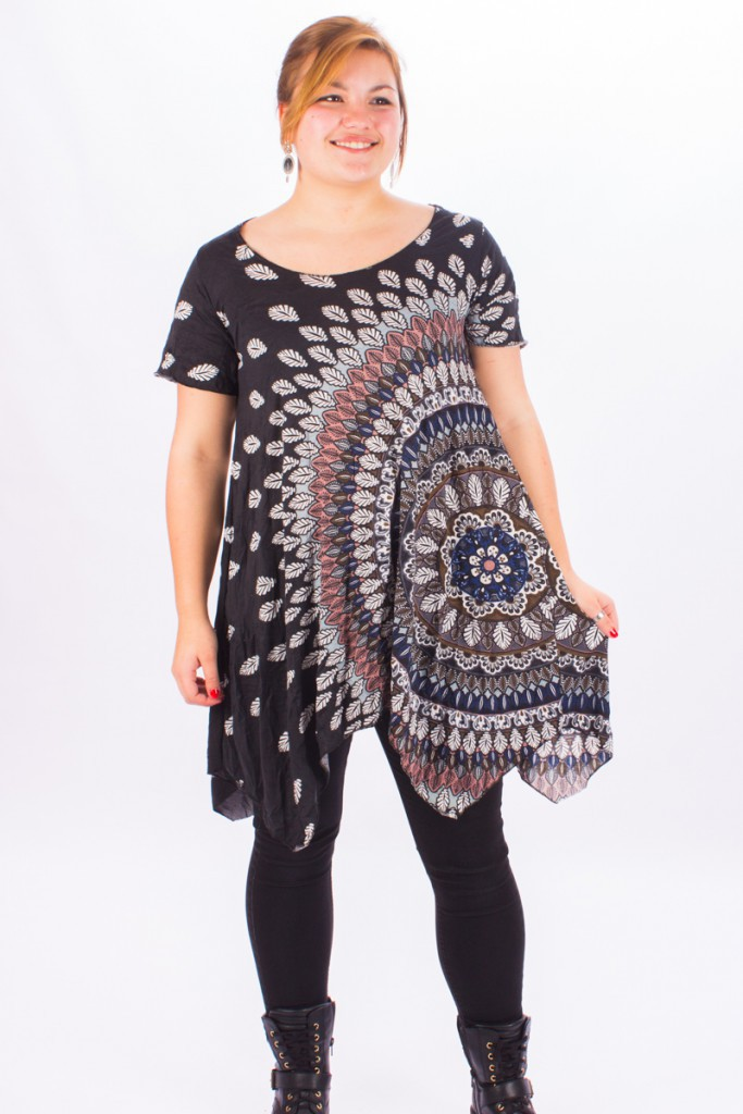 "Tunique \Lola Palooza\"" Big Mandala"""